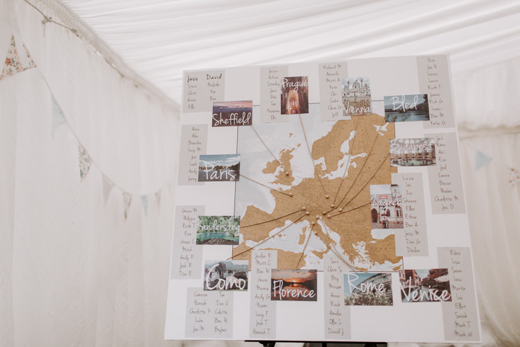 Map Travel Seating Plan Table Chart Botanical Summer Garden Wedding Nottingham Grace Elizabeth Photo & Film
