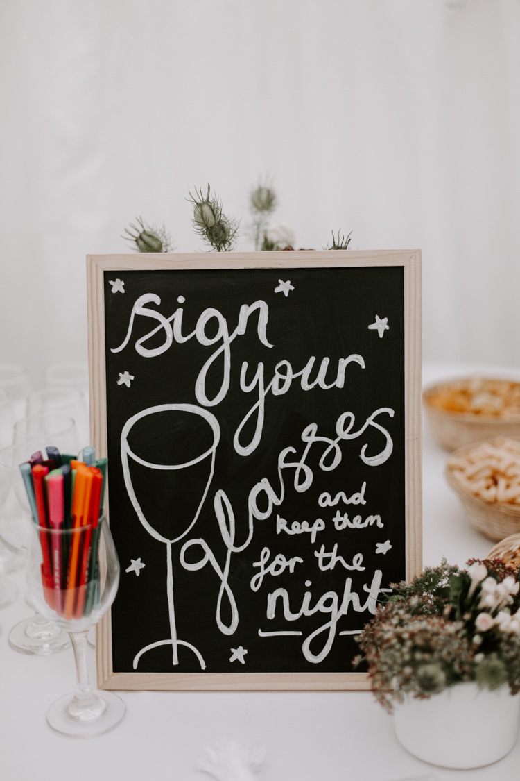 Glasses Sign Name Personalise Bar Station Drinks Botanical Summer Garden Wedding Nottingham Grace Elizabeth Photo & Film