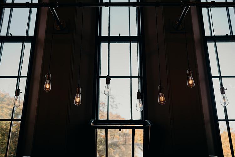 Festoon Light Edison Lighting Decor Carnegie Courthouse Wedding Village Hall Scotland Steven Gallagher Photography