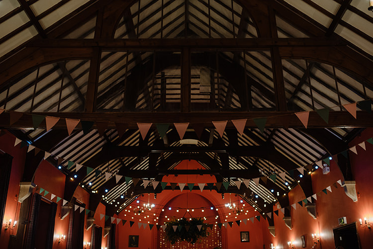 Festoon Light Lighting Decor Bunting Carnegie Courthouse Wedding Village Hall Scotland Steven Gallagher Photography
