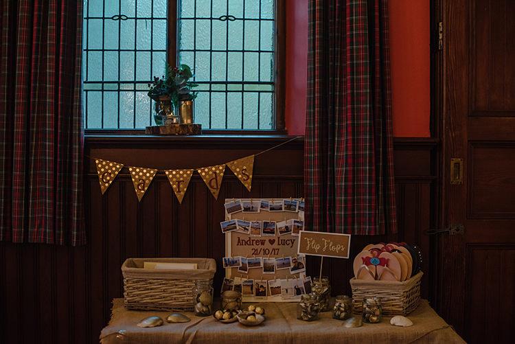 Card Basket Hamper Carnegie Courthouse Wedding Village Hall Scotland Steven Gallagher Photography