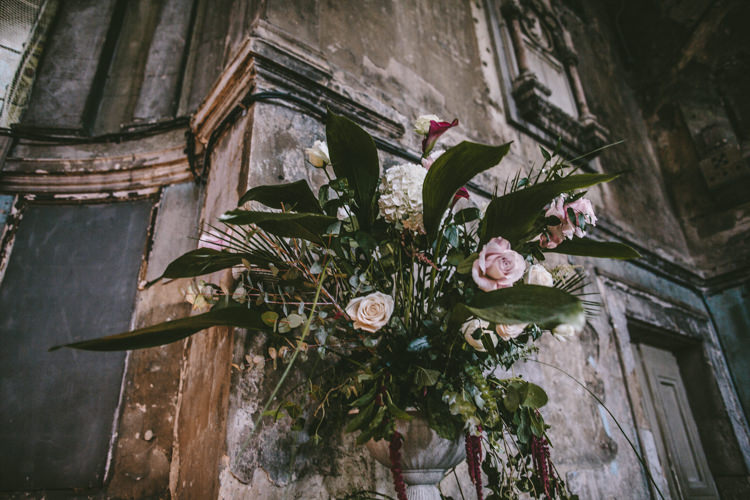 Flowers Greenery Rose Eclectic Asylum Wedding London Rusted Rose Photography