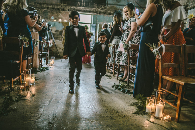 Page Boys Tuxedos Eclectic Asylum Wedding London Rusted Rose Photography