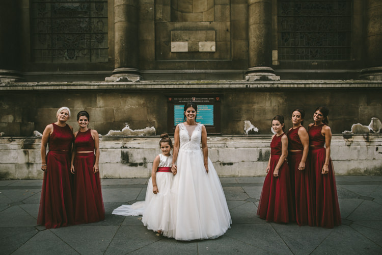 Dessy Bridesmaids Dress Skirt Top Eclectic Asylum Wedding London Rusted Rose Photography