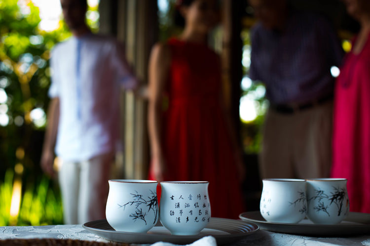 Outdoor Destination Luxury Adventure Ubud Chinese Tea Ceremony | Whimsical Exotic Tropical Jungle Wedding Bali http://www.cecilephotographybali.com/