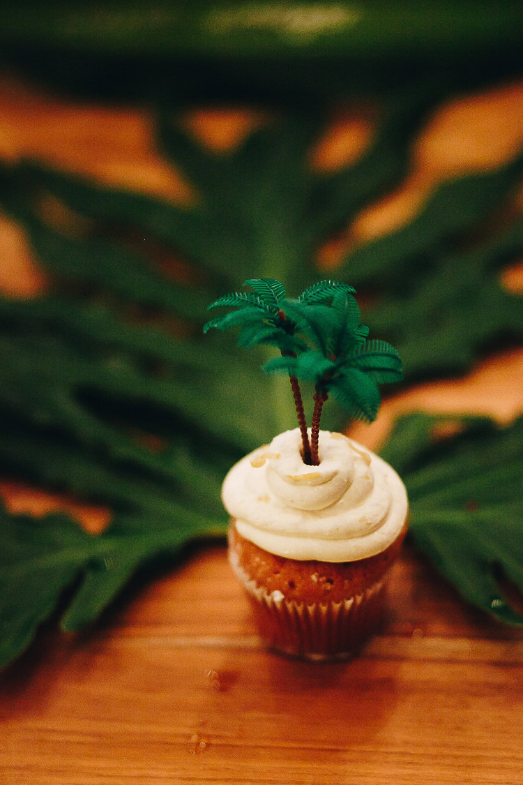 Outdoor Destination Luxury Adventure Ubud Colorful Tropical Flower Palm Tree Cupcake | Whimsical Exotic Tropical Jungle Wedding Bali http://www.cecilephotographybali.com/