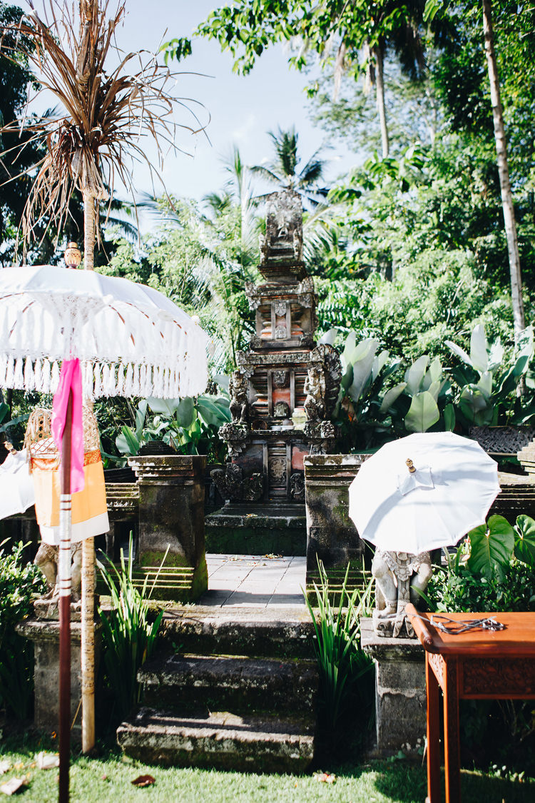Outdoor Destination Luxury Adventure Ubud Ceremony Statue | Whimsical Exotic Tropical Jungle Wedding Bali http://www.cecilephotographybali.com/