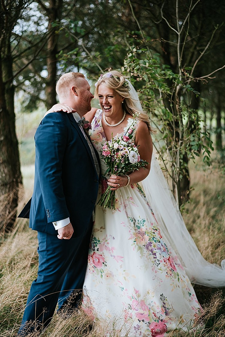 Untamed Love Charlotte Balbier Floral Wedding Dress Gown Bride Bridal Train Floral Wedding Dress Tipi Alfred and Co Photography