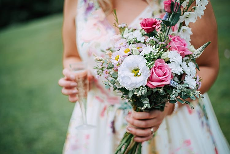 Bouquet Flowers Bride Bridal Fresia Rose Stock Wax Bride Bridal Pastel Floral Wedding Dress Tipi Alfred and Co Photography