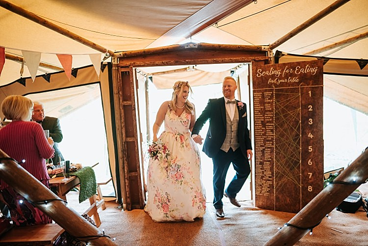 Floral Wedding Dress Tipi Alfred and Co Photography