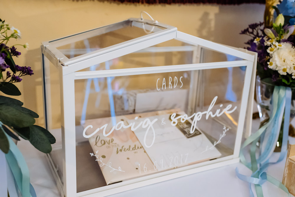 Cards Box Glass Calligraphy Laid Back Harry Potter Wedding Daffodil Waves Photography