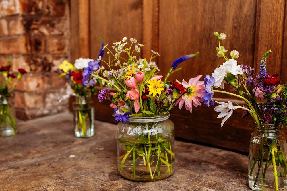 Wild Meadow Flowers Floral Jars Laid Back Harry Potter Wedding Daffodil Waves Photography