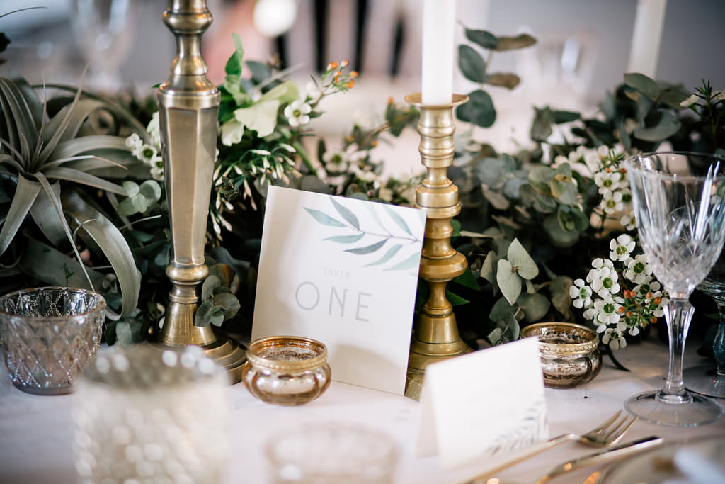 Botanical Stationery Lapstone Barn Wedding Ideas Cotswolds Katie Hamilton Photography