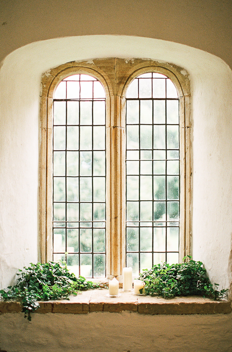 High Window Greenery Candles Whimsical Summer Chocolat Wedding Ideas Brympton House Liz Baker Fine Art Photography
