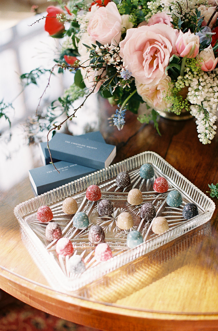 Chocolates Whimsical Summer Chocolat Wedding Ideas Brympton House Liz Baker Fine Art Photography