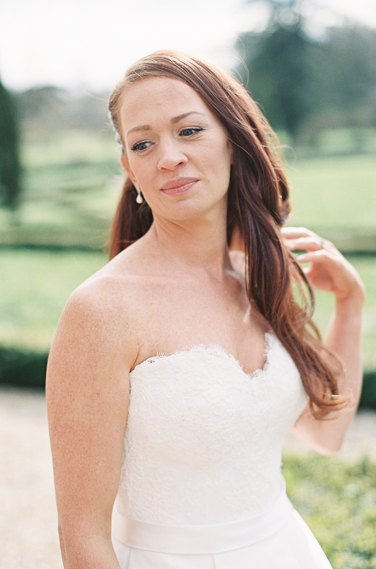 Bride Bridal Make Up Beauty Whimsical Summer Chocolat Wedding Ideas Brympton House Liz Baker Fine Art Photography