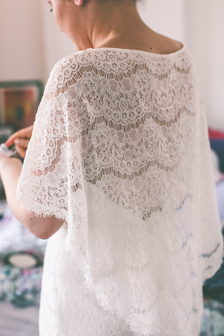 Lace Bat Wing Sleeve Bride Bridal Dress Gown Manchester Town Hall Wedding City Emma Boileau Photography
