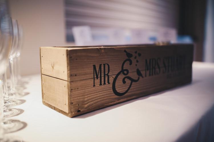 Personalised Wooden Planter Box Stylish Minimalist Moddershall Oaks Wedding Winnington & Coe Photography