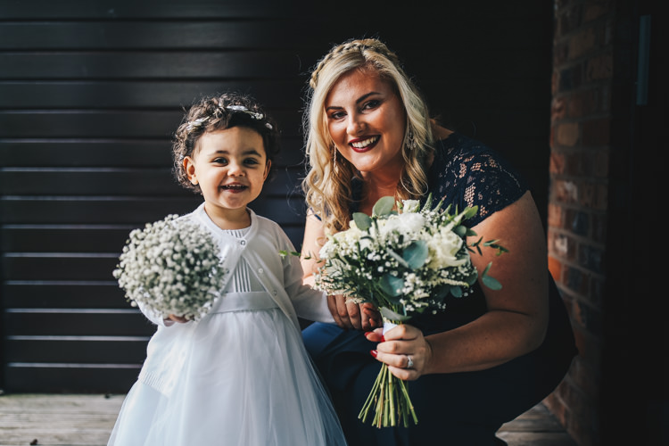 Flower Girl Bridesmaid Flowers Bouquets Stylish Minimalist Moddershall Oaks Wedding Winnington & Coe Photography