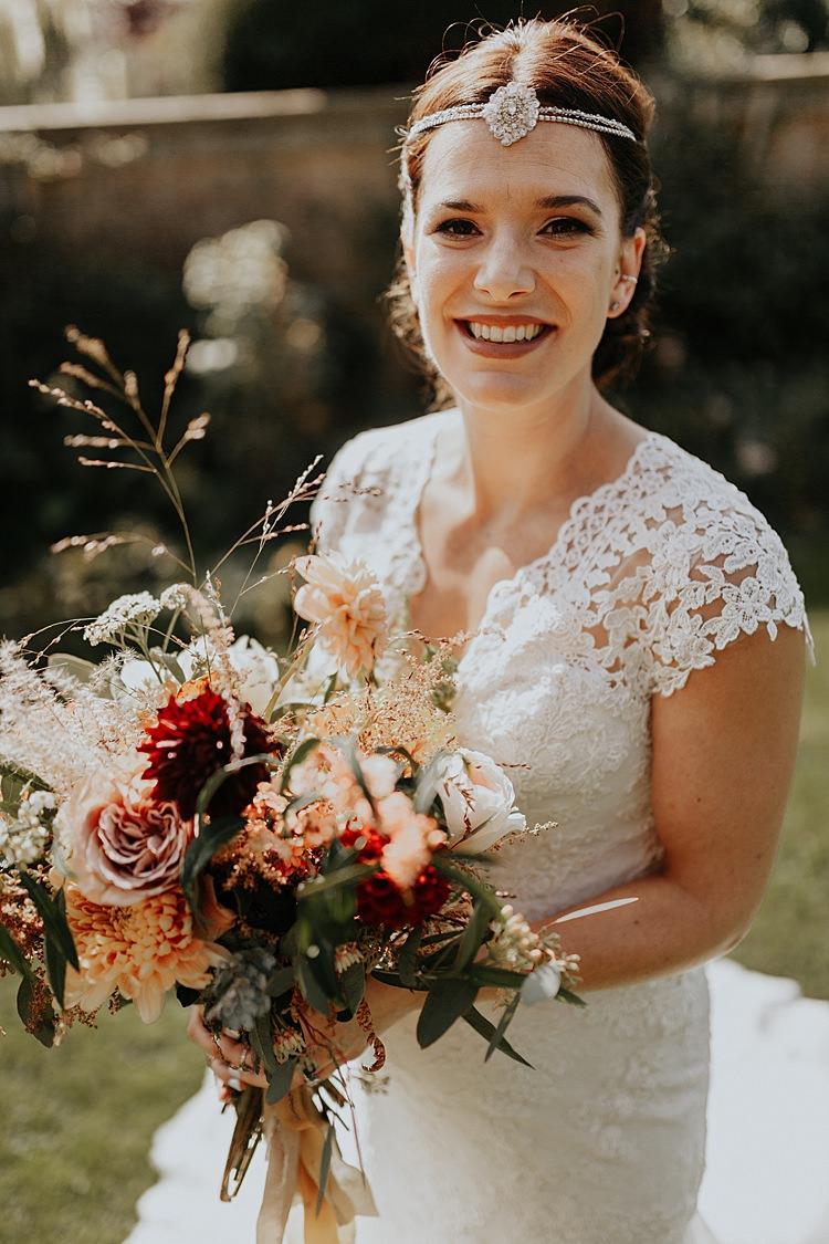 Bride Bridal Make Up Forehead Accessory Band North Hidden Barn Wedding Autumn Jen Marino Photography