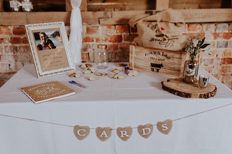 Card Table Box North Hidden Barn Wedding Autumn Jen Marino Photography