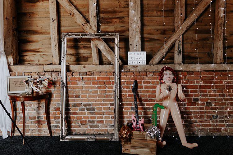 Photo Booth Frame Props North Hidden Barn Wedding Autumn Jen Marino Photography