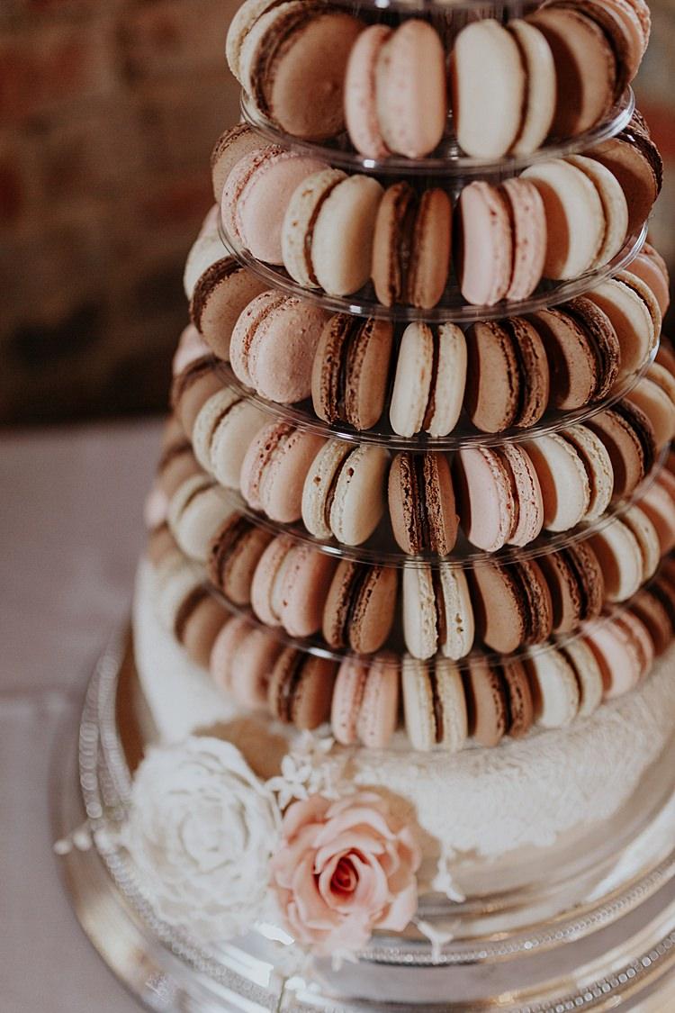 Macaron Tower Cake North Hidden Barn Wedding Autumn Jen Marino Photography