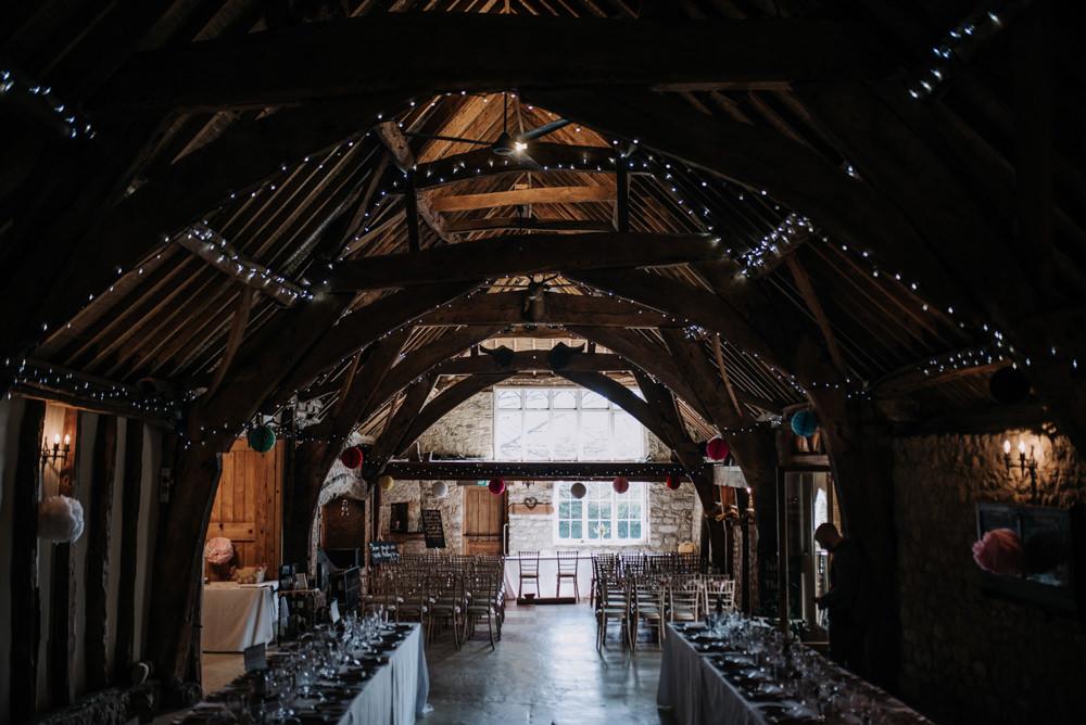 Fairy Lights Pom Poms Notley Tythe Barn Wedding Kazooieloki Photography