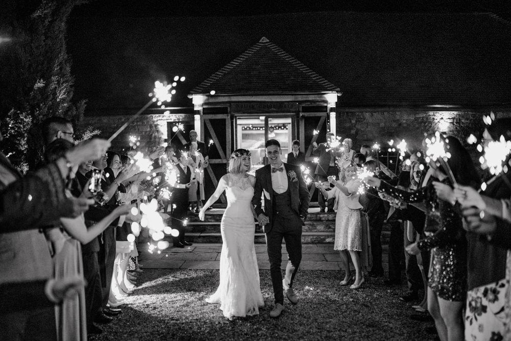 Sparkler Send Off Exit Notley Tythe Barn Wedding Kazooieloki Photography