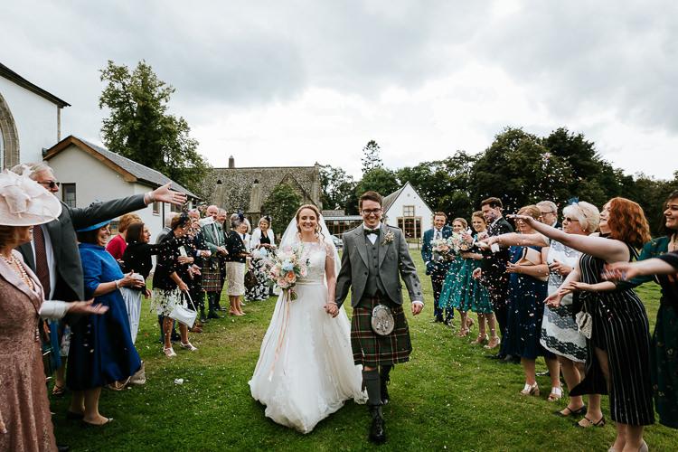 Confetti Throw Pretty Pastel Floral Village Hall Wedding Struve Photography