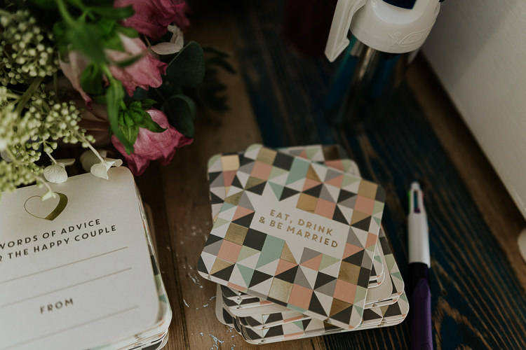 Advice Cards Guest Book Pretty Pastel Floral Village Hall Wedding Struve Photography