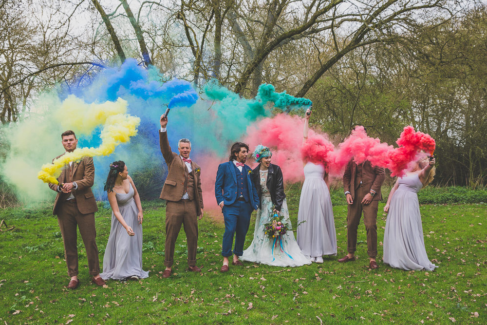 Rainbow Alternative Woodland Wedding Ideas Nicki Shea Photography