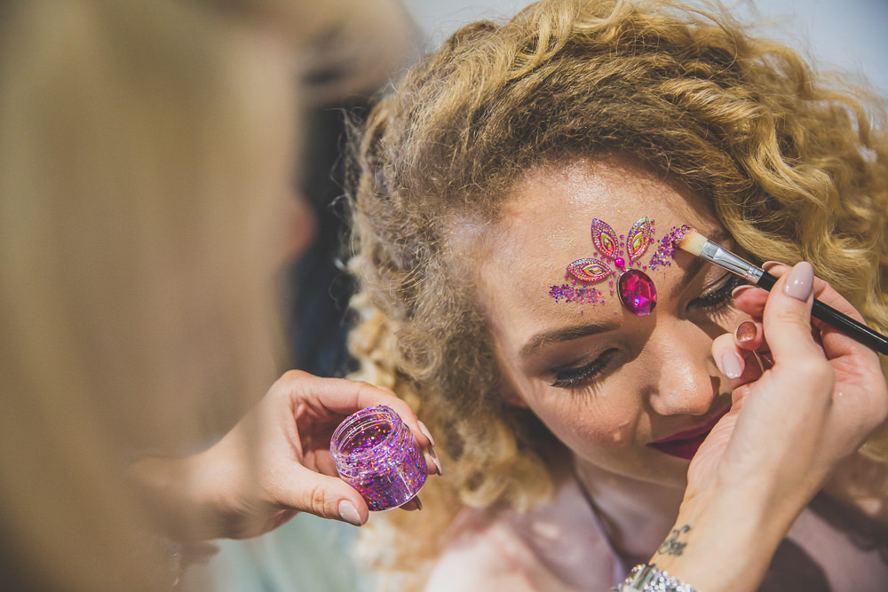Glitter Make Up Rainbow Alternative Woodland Wedding Ideas Nicki Shea Photography