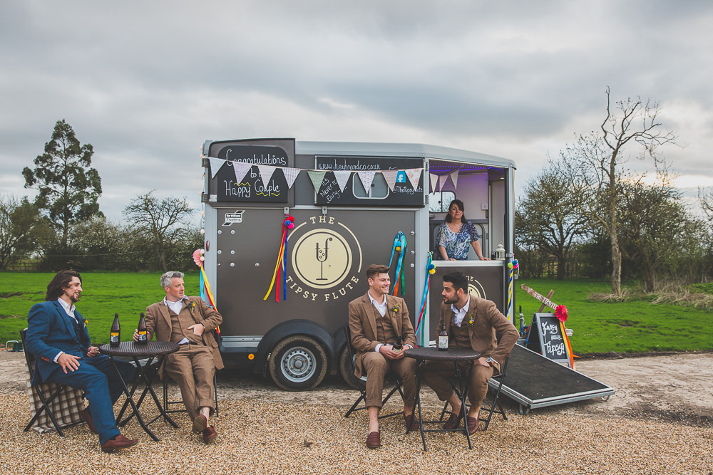 Horse Box Bar Drinks Rainbow Alternative Woodland Wedding Ideas Nicki Shea Photography