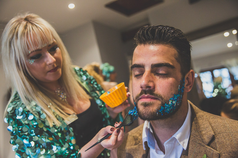 Glitter Beard Rainbow Alternative Woodland Wedding Ideas Nicki Shea Photography