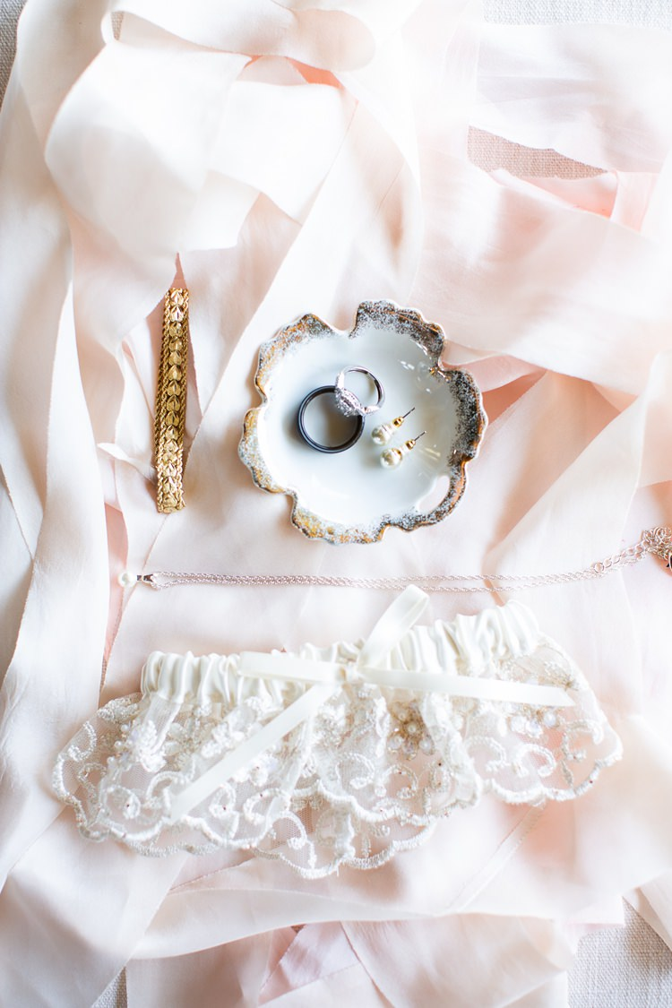Bride Bridal Accessories Garter Romantic Spring Pastel Farm Wedding Ashley Spangler Photography