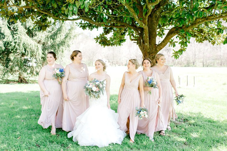 Pink Bridesmaid Dress Romantic Spring Pastel Farm Wedding Ashley Spangler Photography