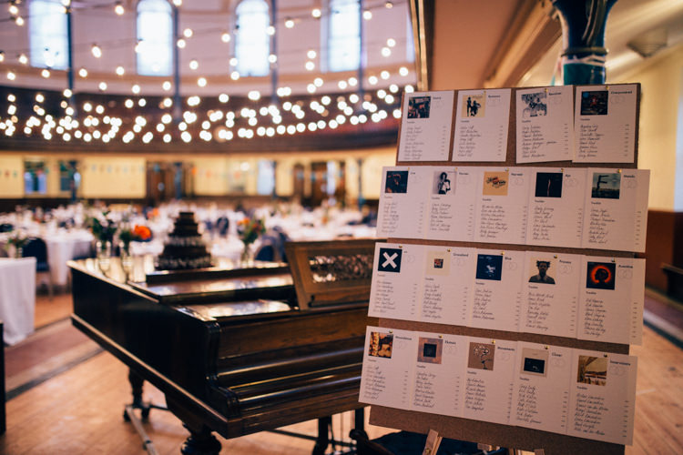 Table Plan Seating Chart Records Albums Round Chapel London Wedding Nikki van der Molen Photography