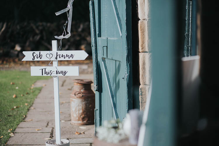 Wooden Sign Signage Brush Lettering The Byre at Inchyra Wedding Jen Owens Images