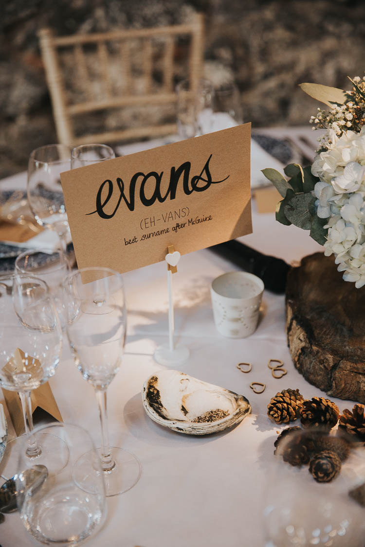 Table Name Wood Slice Hydrangea The Byre at Inchyra Wedding Jen Owens Images