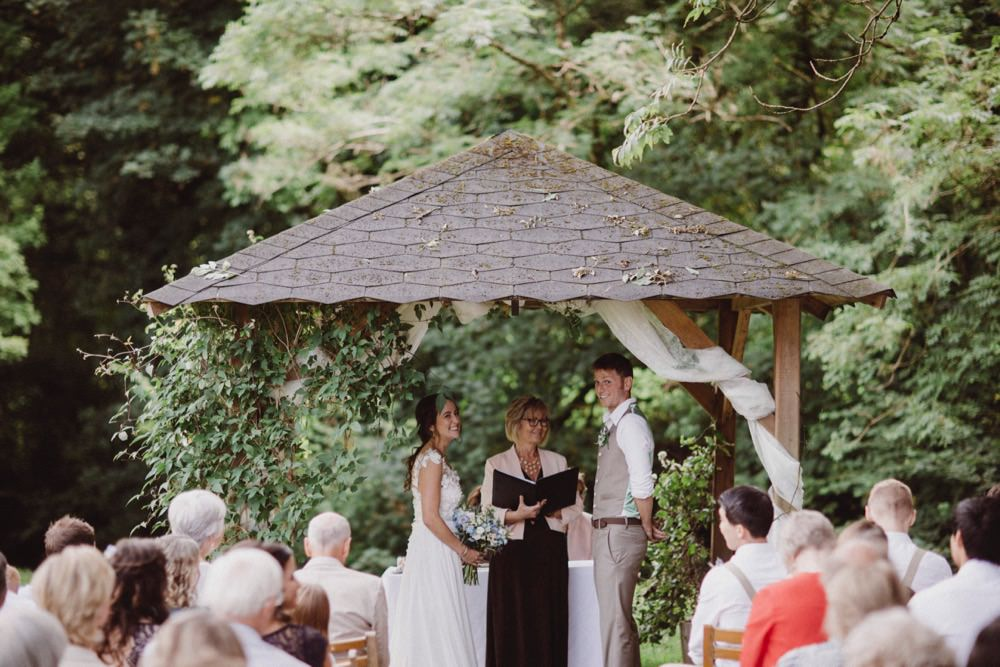 Outdoor Woodland Ceremony The Green Cornwall Wedding Ben Selway Photography