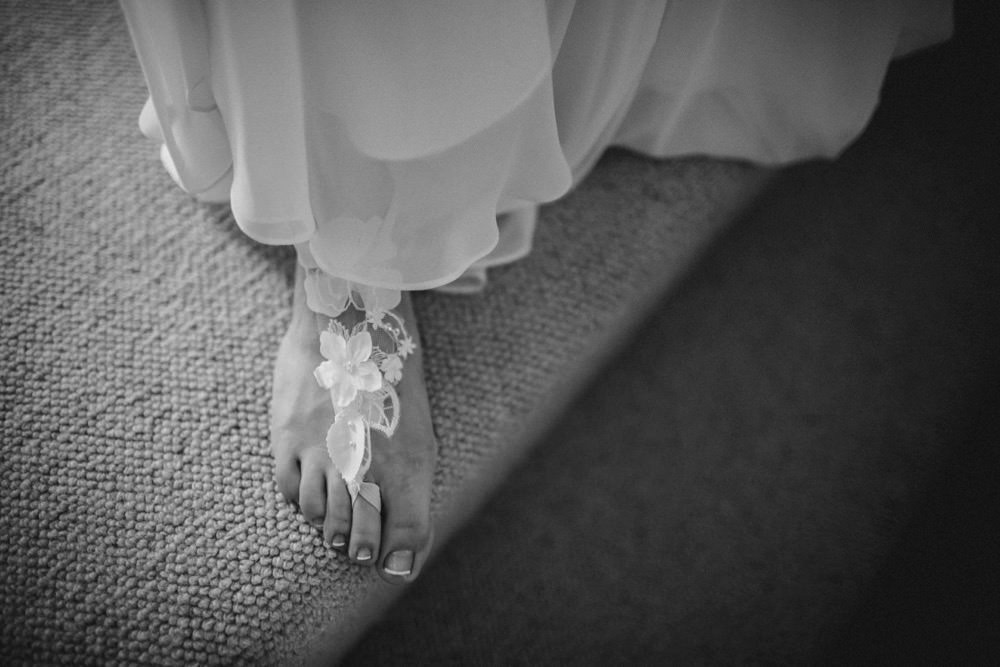 Barefoot Bride Accessory Shoe The Green Cornwall Wedding Ben Selway Photography