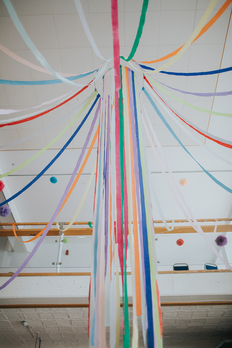 Crepe Paper Streamers The Workstation Cinema Colourful Wedding Bloom Weddings