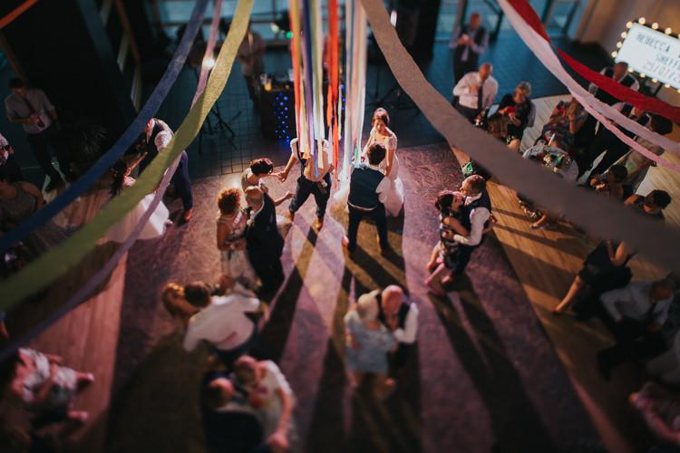 Dancefloor Streamers The Workstation Cinema Colourful Wedding Bloom Weddings