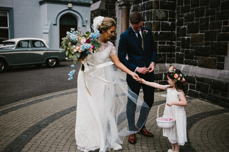 Flower Girl Bridesmaid Larchfield Estate Wedding Honey and the Moon Photography