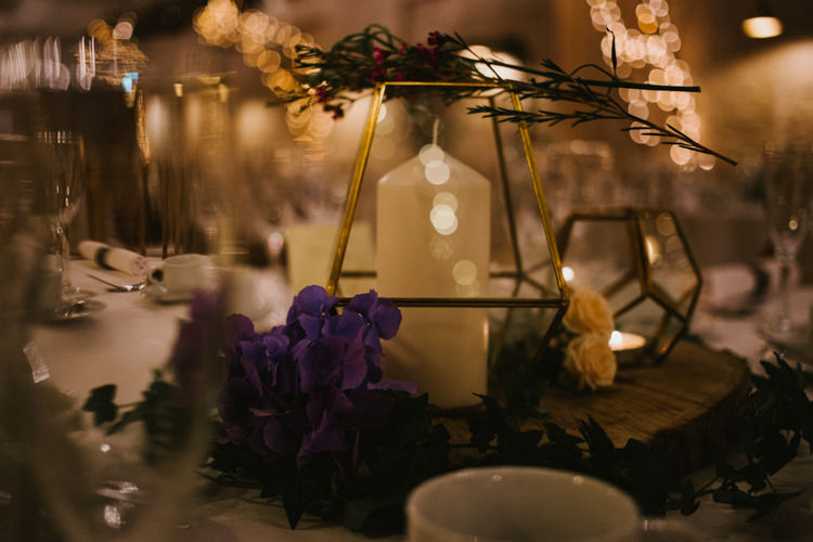Terrarium Candles Flowers Decor Larchfield Estate Wedding Honey and the Moon Photography