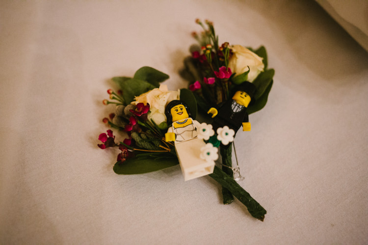 Lego Buttonhole Flowers Larchfield Estate Wedding Honey and the Moon Photography