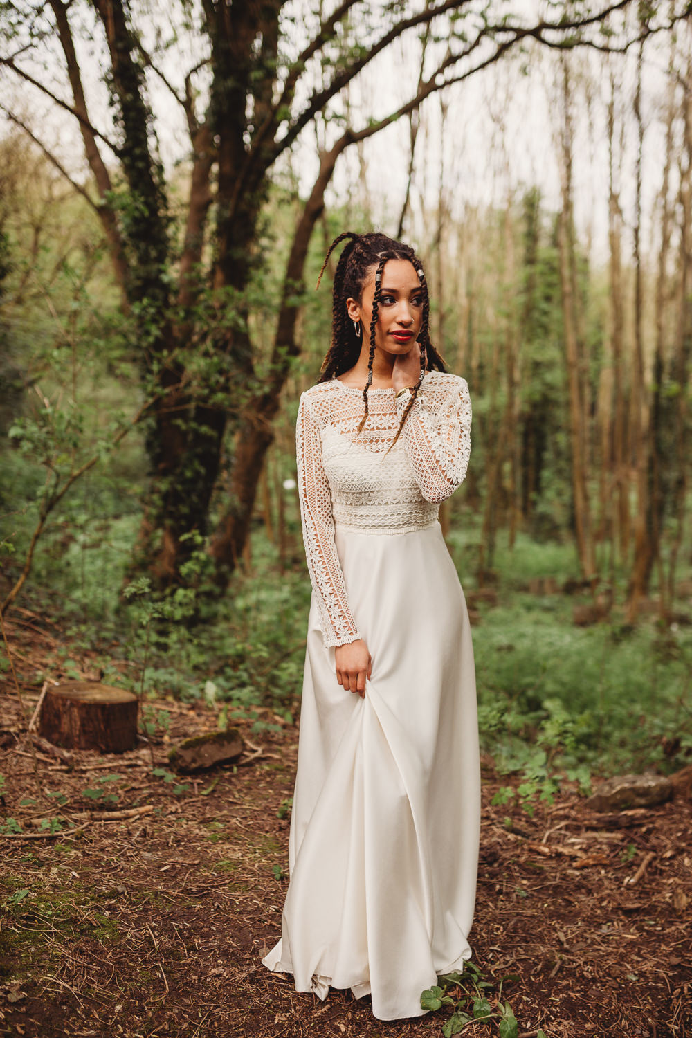 Dress Gown Bride Bridal Lace Silk Sleeves Arnos Vale Weddings Ideas When Charlie Met Hannah Photography