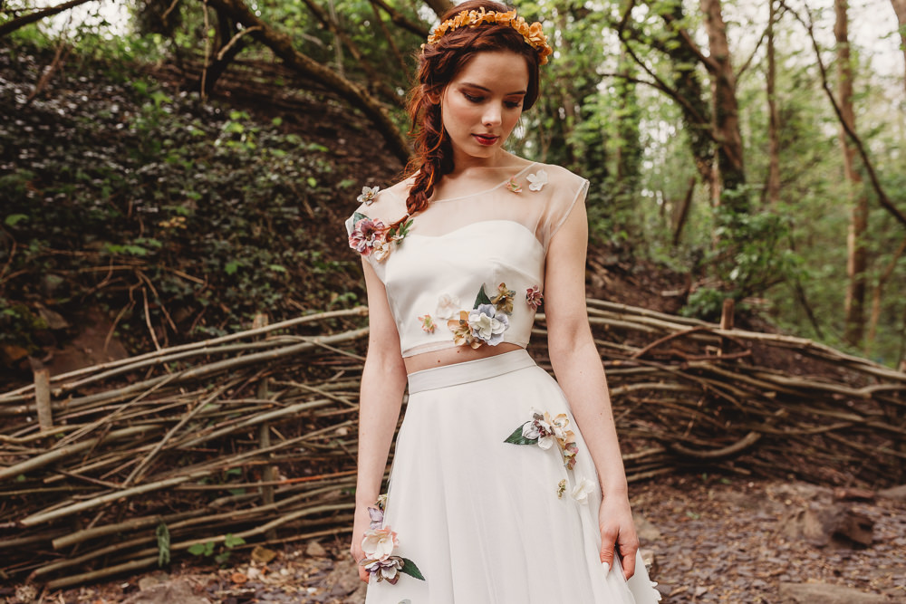 Dress Gown Bride Bridal Lace Silk Train Veil Flowers Embroidery Skirt Top Arnos Vale Weddings Ideas When Charlie Met Hannah Photography