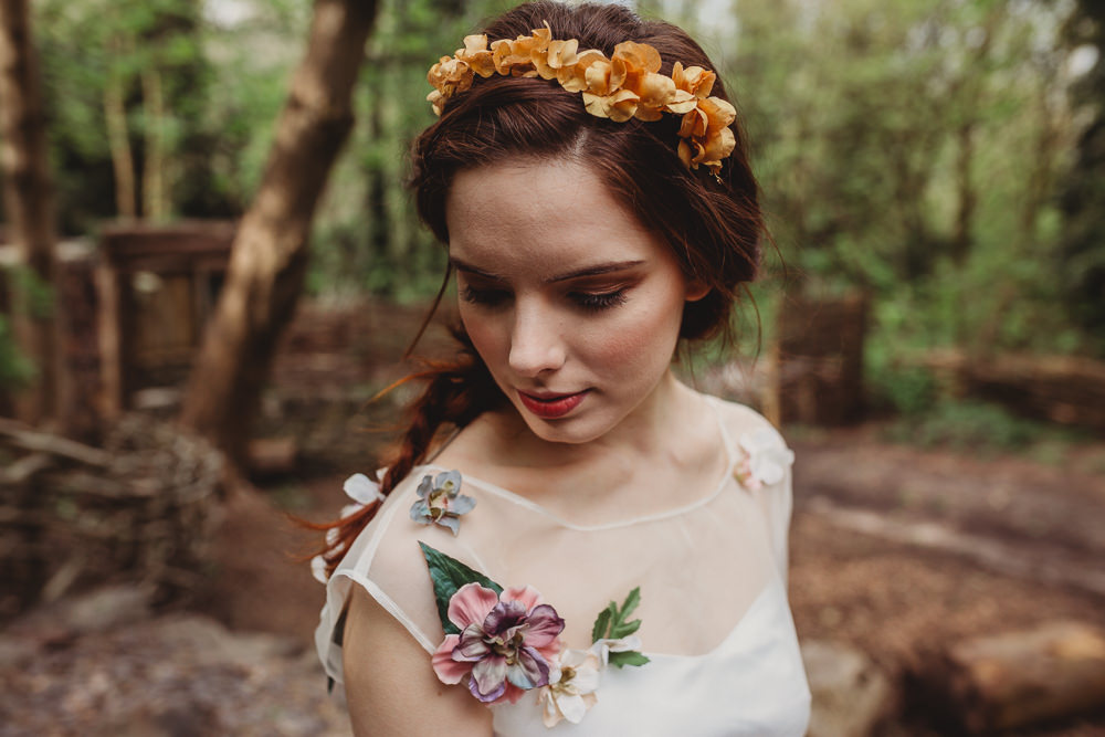 Bride Bridal Headdress Crown Tiara Flowers Arnos Vale Weddings Ideas When Charlie Met Hannah Photography
